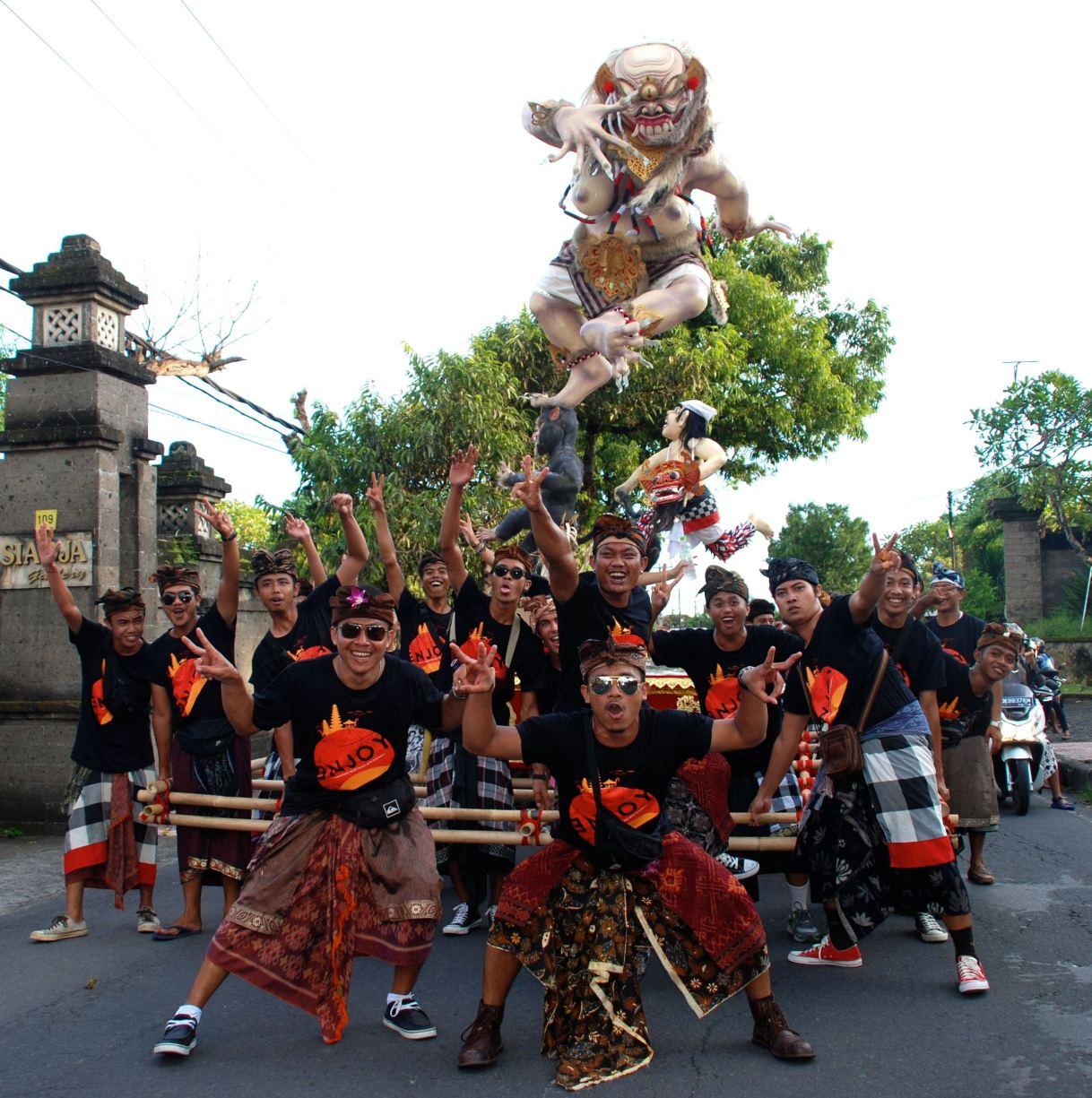 'Nyepi'; Balinese day ofsilence.