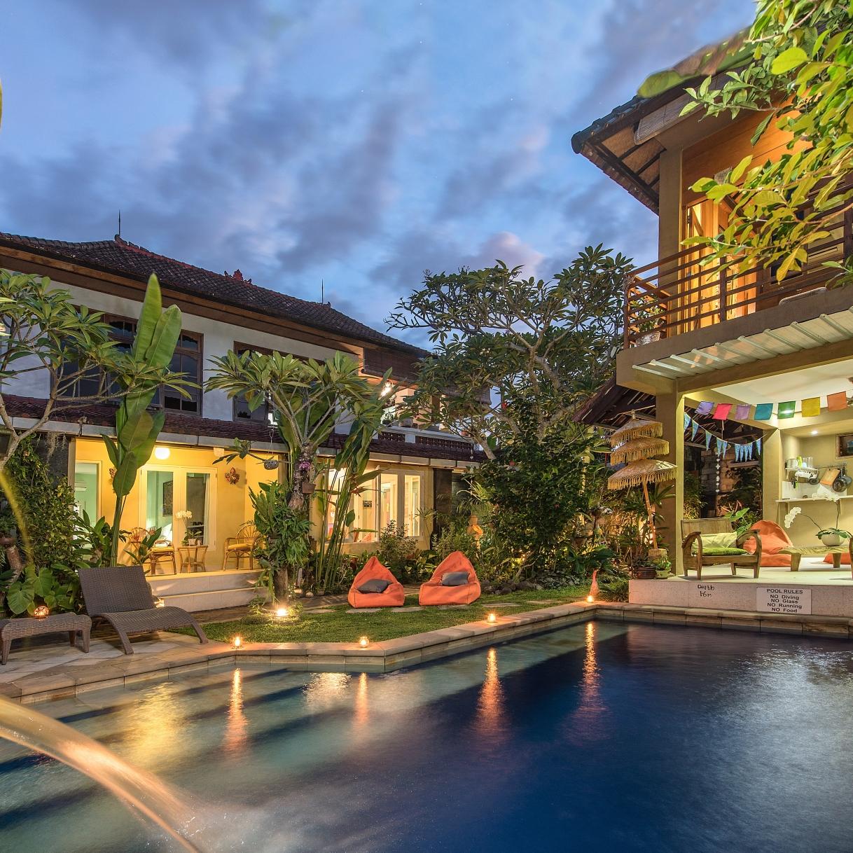 Angel House Ubud. Peaceful tropical oasis in the village of MasUbud.